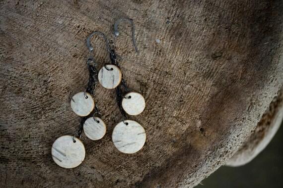 Birch Bark Earrings Number 7 Dangley