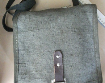 Military vintage. Soviet bag with shoulder  strap. Protective coloring. Made in USSR 1970s.