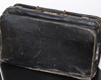 Vintage Gladstone or Doctors Bag