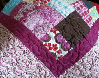 SALE - Scrappy Flower Patch  Quilt