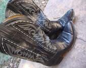 Mens Dan Post lizard skin cowboy boots mens 8