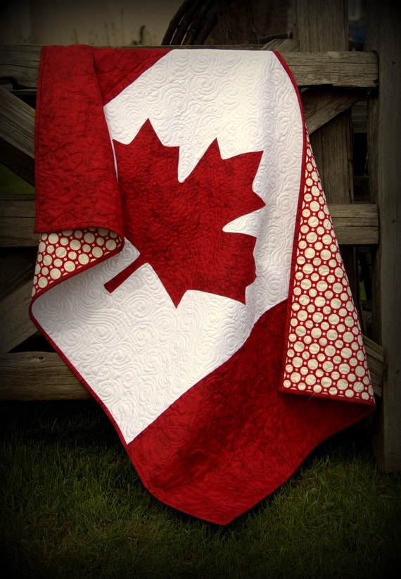 Canada Baby Quilt Canadian Flag National Pride By