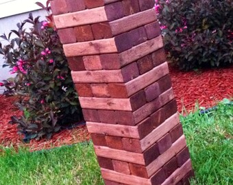 Tumbling Timbers Handmade from new solid wood blocks FINISHED in your choice of stain color