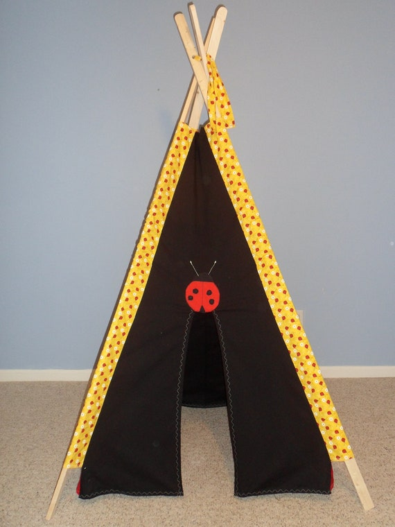 RESERVED FOR PARKER Tent, Lady Bug Teepee, Play Tent, Tipi, Indoor Tent, Childrens Teepee, Kids Fort