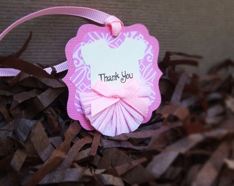 Handmade Pink Ballerina Thank You Tag for Girl