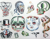 Miscellaneous II Neo-Traditional Tattoo Flash Sheet
