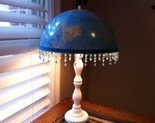 White Lamp with Globe Shade