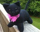 Fleece Black Cat Plushie
