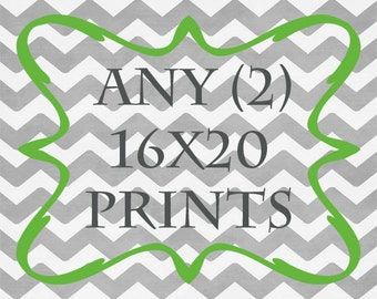 Any (2) 16x20 Prints - ANY prints from Rizzle And Rugee
