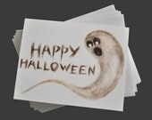 Ghost Scribble Halloween Greeting Card