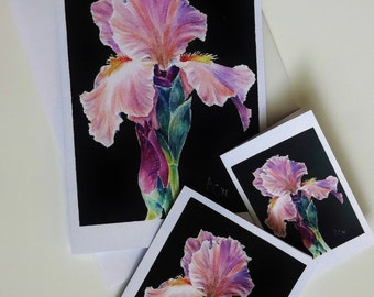 All Occasion Cards: Greeting/Note/Gift Cards from original art works with envelopes and three different Iris images