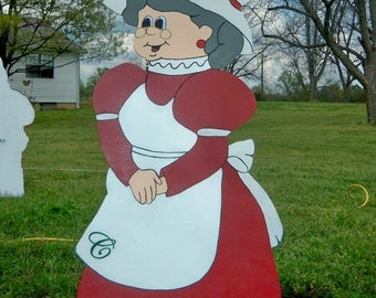 Mrs. Santa Holiday Yard Art Decoration