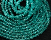 14 Inches Super Finest Quality Sky Green Blue Apatite Large Size 3.5mm Manufacturers Price Item