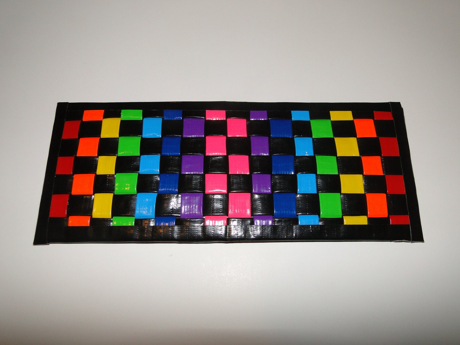 Woven Rainbow Duct Tape Wallet