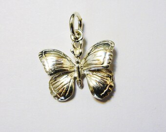 Sterling Silver Charm - Butterfly with Jump ring