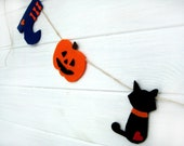 Halloween Felt Garland , Halloween Decoration, Halloween Decor - BrightBride