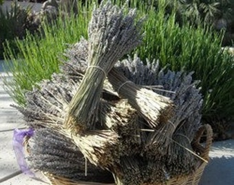 5 Dried Lavender Bundle Bunch   wholesale (Each Bundle 4 OZ for total of 20 OZ)