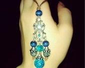Blue Empress Ear Chandeliers