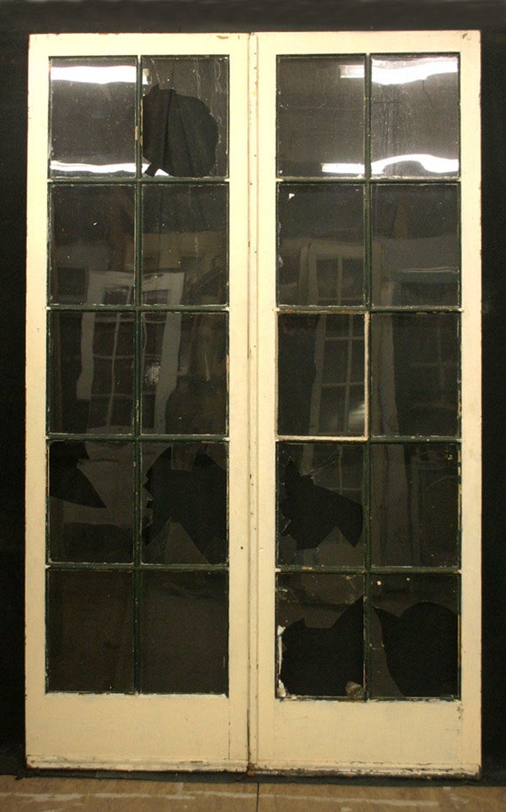 Items similar to 48 x80 antique pair french interior for 48 inch french doors