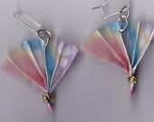 Adorable Origami Fan Earrings