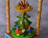 Vintage Musical Revolving Christmas Tree German Vogelhandler Walzer The Birdseller