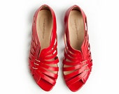 Gilly red flat sandals By Tamar Shalem