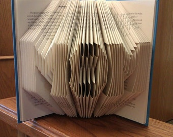 "Folded Book Art  ""MOM"" - Made to order"