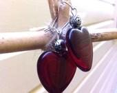 Queen of Hearts Glass Earrings