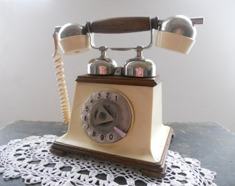 Rare Soviet vintage dial rotary telephone Retro TA-1173 made in VEF Riga Latvia