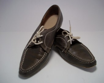 Vintage Womans Brunswick Bowling Shoes Chocolate Brown
