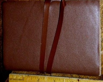 paper supplies ... beautiful POCKET Sized LEATHER JOURNAL ...