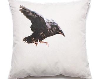 Throw Pillow Baby Crow
