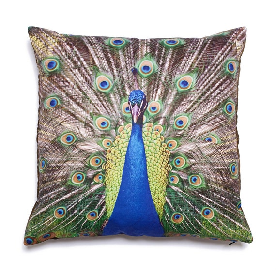 Throw Pillow Cover Peacock