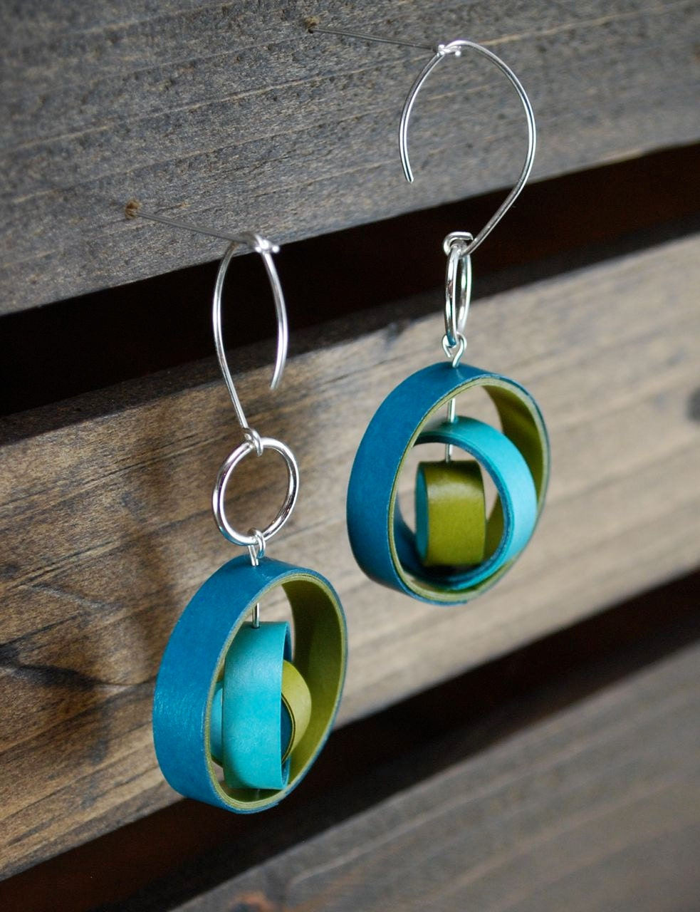 First anniversary gift for her modern paper earrings