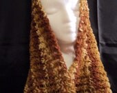 Alpaca Multi-brown cowl/hood/shawl