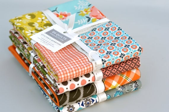 LAST ONE: DS Quilts Fat Quarter Bundle - 4 Quilters Quarters for Joann Fabrics by Denyse Schmidt from Summer, 2012