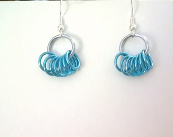 Chainmaille earrings, small hoops
