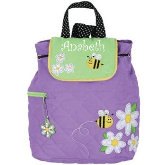Stephen Joseph Quilted DAISY Backpack Personalized for FREE
