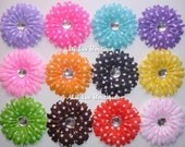 Hair Flower Clips - Your Choice of 12 Daisy Hair Clips - (60 Colors To Choose From) - ON SALE (Orig. 21)
