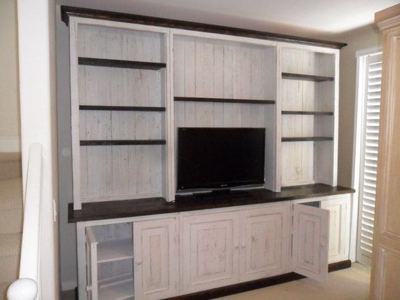 recycled wood entertainment cabinet made in the USA, custom sizes