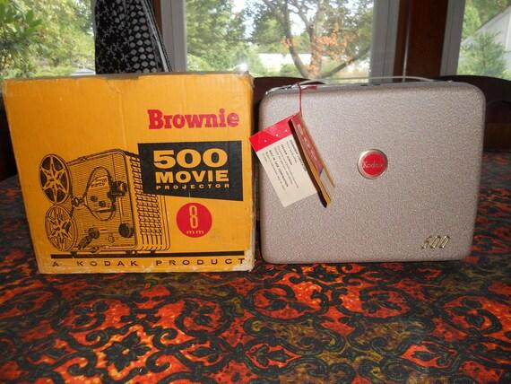 Kodak Brownie 8mm Movie Projector w/ Original Box 1950s