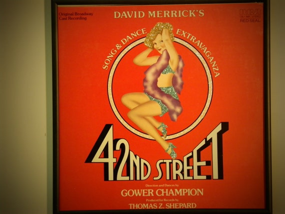 Glittered Record Album - 42nd Street