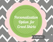 Personalization OPTION for Creed Print Shirts