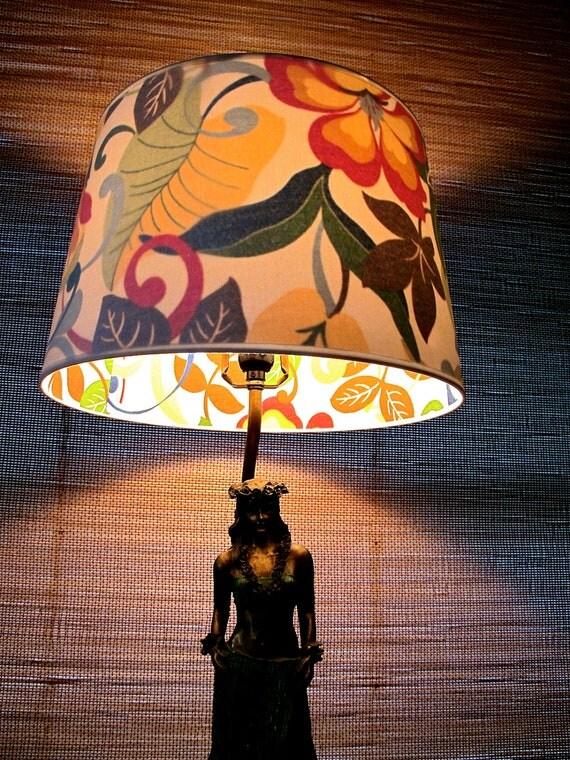 Peek-A-Boo Lamp Shade: Tropical, Large