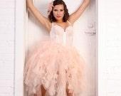 Wedding Tutu-Custom Adult Tutu, Pink Ivory, Peach, White
