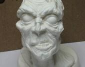 Paint your own Zombie. Original sculpture zombie bust