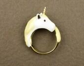 Yellow Unicorn Ring