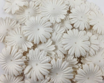 500 White Small Daisy Die Cut y Paper Flowers Scrapbook Wedding Card Making Crafts Supply 15/P70