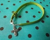 Zipper bracelet (green)