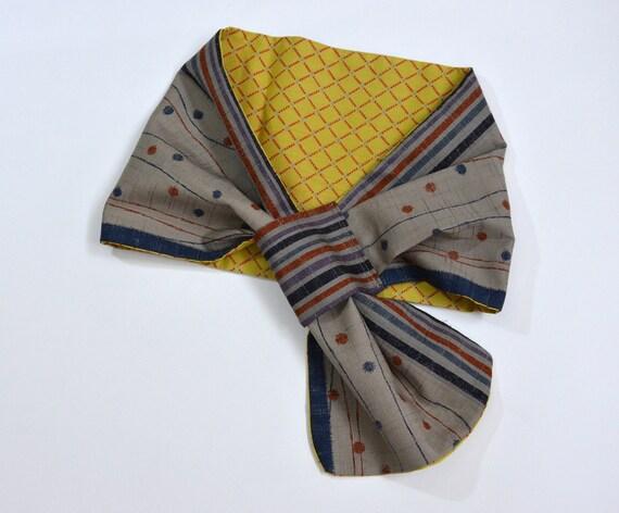 Kimono fabric Reversible Scarf from Japan